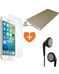 MYCANDY COMBO DEAL FOR IPHONE 7 PLUS /IPHONE 8 PLUS - TEMPERED GLASS PROTECTOR+ STEREO HEADSET+ 3000 MAH POWERCARD