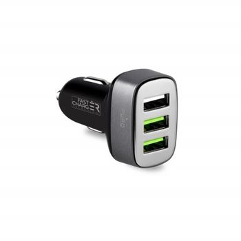 PURO CAR CHARGER COMPACT 3,  black