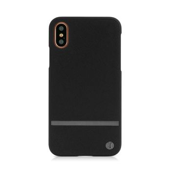 UUNIQUE IPHONE X BACK CASE REAR HARD SHELL BLACK KEY LINE,  black