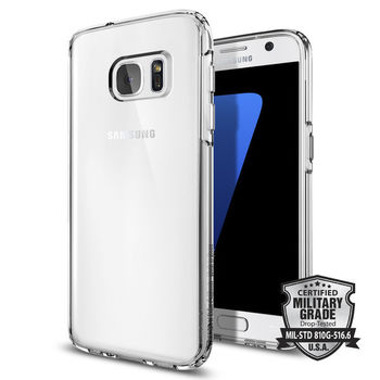 SPIGEN GALAXY S7 BACK CASE ULTRA HYBRID CRYSTAL CLEAR,  white