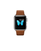 APPLE WATCH SERIES 1 38MM STAINLESS STEEL CASE WITH SADDLE BROWN CLASSIC BUCKLE MLCL2AE/A