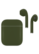 APPLE AIRPODS SECOND GEN WIRED PAINTED SPECIAL EDITION,  army green, matte