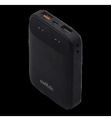 سويتش شاحن متنقل 10,000 مللي آمبير منفذي USB مزود بقتنية الشحن السريع QC 3.0,  Black