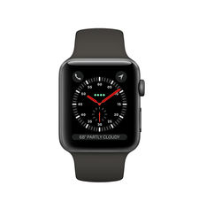 APPLE SMARTWATCH SERIES 3 42MM MR302A SPACE GREY ALUMINIUM CASE WITH GREY SPORT BAND - CELLULAR