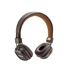 MARSHALL MAJOR II BLUETOOTH ON-EAR HEADPHONE,  brown
