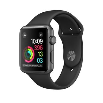 APPLE WATCH SERIES 2 SPACE GRAY ALUMINUM CASE WITH BLACK SPORT BAND MP062
