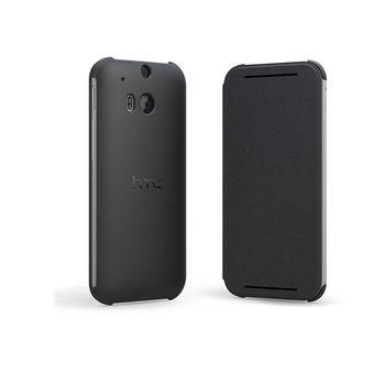HTC ONE M8 FLIP CASE,  grey