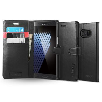 SPIGEN GALAXY NOTE 7 WALLET CASE BLACK