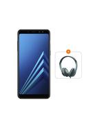 SAMSUNG GALAXY A8 PLUS 2018 64GB DUAL SIM 4G LTE,  black