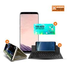 SAMSUNG GALAXY S8 PLUS 64GB+ ZAGG KEYBOARD+ CASE+ 100 SWITCH VOUCHER,  grey