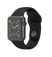APPLE WATCH SERIES 1 38MM SPACE BLACK STAINLESS STEEL CASE WITH BLACK SPORT BAND MLCK2AE/A,  أسود, 38 MM