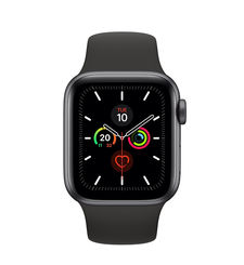 APPLE WATCH SERIES 5 GPS+ CELLULAR, 44MM SPACE GREY ALUMINIUM CASE WITH BLACK SPORT BAND - S/M & M/L