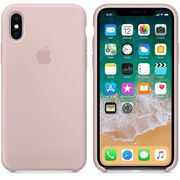 APPLE IPHONE X SILICONE BACK CASE,  pink sand
