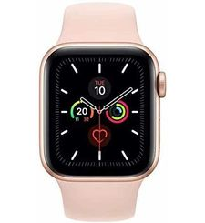 APPLE WATCH SERIES 5 GPS+ CELLULAR, 40MM GOLD ALUMINIUM CASE WITH PINK SAND SPORT BAND - S/M & M/L