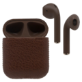 APPLE AIRPODS BLACK LABEL EDITION CALF BROWN