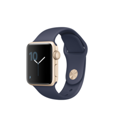 APPLE WATCH SERIES 2 38MM SMARTWATCH (GOLD ALUMINUM CASE, MIDNIGHT BLUE SPORT BAND) MQ132