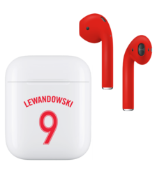 APPLE AIRPODS FIFA SUPERSTARS SERIES,  lewandowski , matte