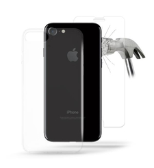 2 in 1 Puro 0.3 NUDE Ultra Slim Cover+ Tempered Glass for iPhone 7 Transparent