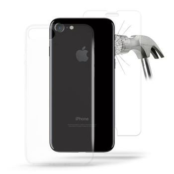 2 IN 1 PURO 0.3 NUDE ULTRA SLIM COVER+ TEMPERED GLASS FOR IPHONE 7 / IPHONE 8 TRANSPARENT