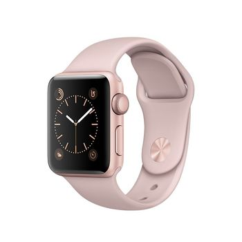 APPLE WATCH SERIES 2 38MM SMARTWATCH (ROSE GOLD ALUMINUM CASE, PINK SAND SPORT BAND) MNNY2