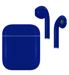 APPLE AIRPODS SECOND GEN WIRED PAINTED SPECIAL EDITION,  cobalt blue , matte