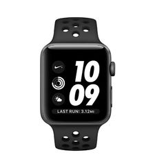 APPLE SMART WATCH 42MM ALUMINIUM CASE WITH SPORT PLASTIC BAND BLACK MQ182