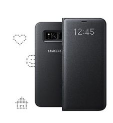 SAMSUNG GALAXY S8 PLUS LED VIEW COVER,  black