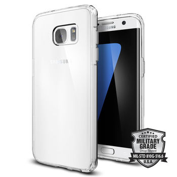 SPIGEN GALAXY S7 EDGE BACKCASE ULTRA HYBRID CRYSTAL CLEAR, crystal clear