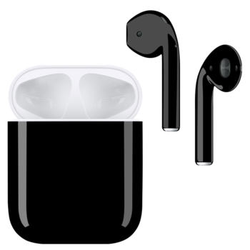 APPLE AIRPODS WITH CUSTOM PAINT,  jet black