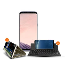 SAMSUNG GALAXY S8 PLUS 64GB+ ZAGG KEYBOARD+ CASE,  grey
