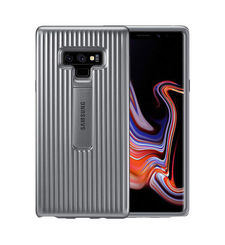 SAMSUNG GALAXY NOTE 9 PROTECTIVE STAND COVER CASE,  silver