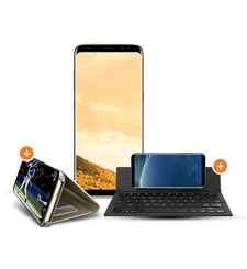 SAMSUNG GALAXY S8 PLUS 64GB+ ZAGG KEYBOARD+ CASE,  gold