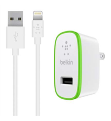 BELKIN CHARGER USB WITH 1.2M LIGHTNING CABLE,  white