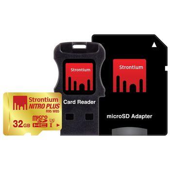 STRONTIUM 32GB NITRO PLUS MICROSD (R80 W60)