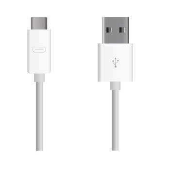 MYCANDY USB (CHARGE & SYNC) CABLE 2M FOR MICRO USB COMPATIBLE DEVICES HIC,  white
