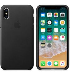 APPLE IPHONE X SILICONE BACK CASE,  black