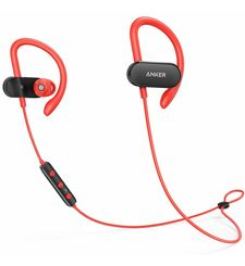 ANKER BLUETOOTH STEREO HEADSET SOUNDBUDS CURVE,  red