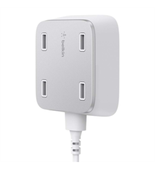 BELKIN HOME CHARGER 4PORT ULTRA FAST USB MOUNTABLE,  white