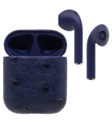 APPLE AIRPODS BLACK LABEL EDITION OSTRICH BLUE