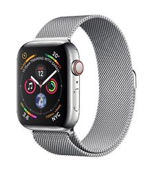 APPLE WATCH SERIES 4 GPS CELLULAR 40MM STAINLESS STEEL CASE WITH MILANESE LOOP