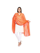 Veera Paridhaan Georgette Printed Womens Dupatta (VP00061), orange