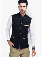 Veera Paridhaan Cotton Nehru Jacket (VP00747), s, black