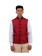 Veera Paridhaan Cotton Nehru Jacket (VP00702), xxxl, red