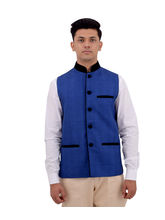 Veera Paridhaan Cotton Nehru Jacket (VP00703), l, blue