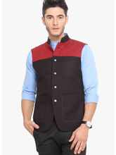 Veera Paridhaan Cotton Nehru Jacket (VP00708), s, black