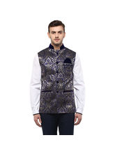 Veera Paridhaan Cotton Nehru Jacket (VP00745), xl, blue
