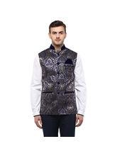 Veera Paridhaan Cotton Nehru Jacket (VP00745), xl, blue
