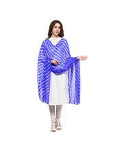 Veera Paridhaan Georgette Printed Womens Dupatta (VP00062), blue