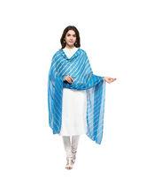 Veera Paridhaan Georgette Printed Womens Dupatta (VP00066), blue