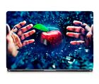 Skin Yard 4D Apple Hand Laptop Skin With Laptop Sleeve, 15.6 inch